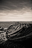 старый rowboat Стоковые Фото