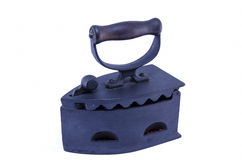 Старый-scool утюг угля при budning изолированные тлеющие угли Стоковое Фото