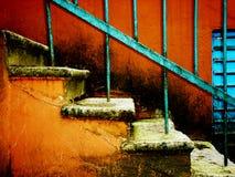 старый stairway Стоковые Изображения