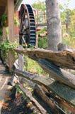старый waterwheel Стоковое Изображение RF