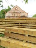 Старым восстановление начатое домом, Литва Стоковые Фотографии RF