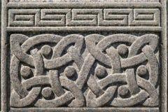 Старым высекаенный камнем кельтский символ дизайна Стоковое Фото