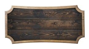 Старым деревянным иллюстрация 3d изолированная знаком иллюстрация вектора