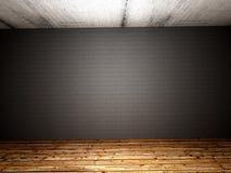 Старым комната покинутая бетоном стоковое изображение rf