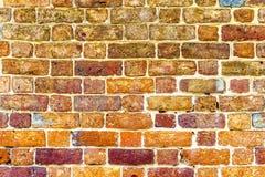 Старым покрашенная кирпичом предпосылка masonry кирпича Стоковая Фотография RF