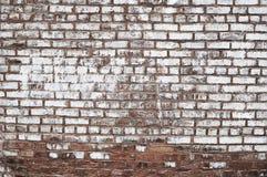 Старым покрашенная красным цветом текстура предпосылки кирпичной стены Стоковая Фотография