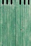 Старым планки покрашенные зеленым цветом выдержанные деревянные Стоковое Фото