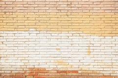 Старым розовым покрашенная кирпичом текстура предпосылки стены Стоковые Изображения