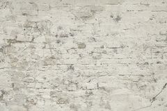Старым серым покрашенная кирпичом текстура предпосылки стены Стоковые Фотографии RF