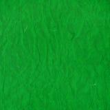 Старым скомканная зеленым цветом текстура бумаги риса Стоковые Изображения RF