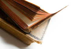 2 старых античных книги Стоковые Изображения RF