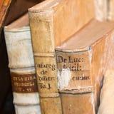 3 старых античных книги Стоковое Изображение RF