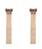 2 старых архитектурноакустических столбца изолированного на белой предпосылке Стоковые Изображения