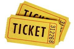 2 старых билета кино Стоковые Фото