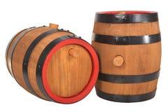 2 старых бочонка пива Стоковые Фотографии RF