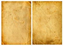 2 старых бумаги Стоковая Фотография RF