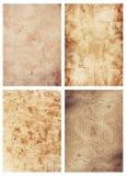 4 старых бумажных листа Стоковые Фотографии RF
