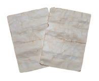 2 старых бумажных листа Стоковое Изображение