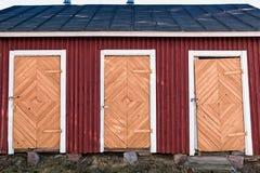 3 старых двери Стоковое Фото