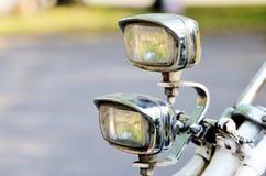 2 старых винтажных света велосипеда Стоковые Фотографии RF