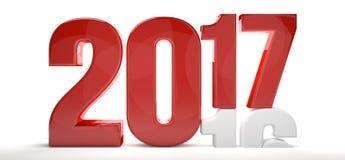 2017 2016 старых год 3d Нового Года и иллюстрация штока