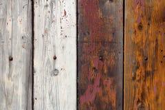 4 старых деревянных доски с краской шелушения Стоковое Изображение RF