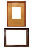2 старых деревянных рамки Стоковая Фотография