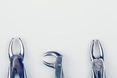 3 старых зубоврачебных пинцета - перевозчики Стоковые Изображения