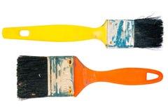 2 старых используемых кисти Стоковая Фотография RF