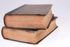 2 старых книги на белизне Старое издание стоковые фото