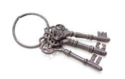 3 старых ключа совместно Стоковые Изображения