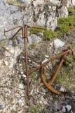 2 старых ржавых анкера Стоковые Фото