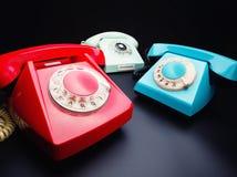 3 старых телефона стоковое изображение rf