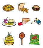 старье еды собрания иллюстрация вектора