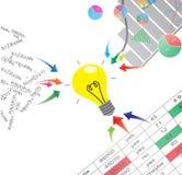 Статистик и аналитически illustra процесса принятия решений Стоковая Фотография