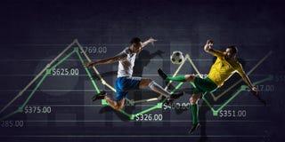 Статистик футбольной игры Мультимедиа Мультимедиа Стоковая Фотография RF