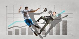 Статистик футбольной игры Мультимедиа Мультимедиа Стоковое Изображение