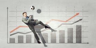 Статистик футбольной игры Мультимедиа Стоковое Изображение