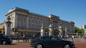Статическая съемка Букингемского дворца в Лондоне акции видеоматериалы