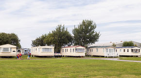 Статический парк праздника каравана Стоковые Изображения RF