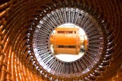 Статор большого электрического двигателя стоковая фотография