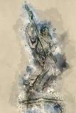 Статуи Анджела на мосте ангелов в Риме - Castel Sant Angelo Стоковое Фото