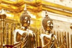 Статуи Будды в виске Таиланда стоковое фото