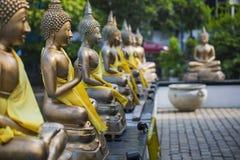 Статуи Будды в виске Seema Malaka, Коломбо, Шри-Ланке Стоковая Фотография RF