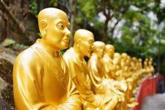 статуи Будды золотистые Стоковая Фотография RF