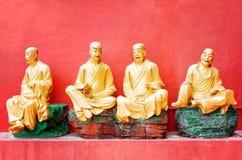 статуи Будды золотистые Стоковые Изображения
