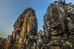 Статуи виска Bayon, Камбоджа стоковое изображение rf