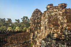 Статуи виска Bayon, Камбоджа стоковые фото