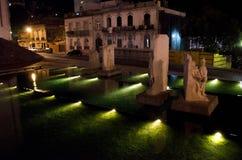 Статуи зеленых светов Стоковая Фотография