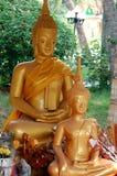 Статуи золотого Buddhas стоковая фотография